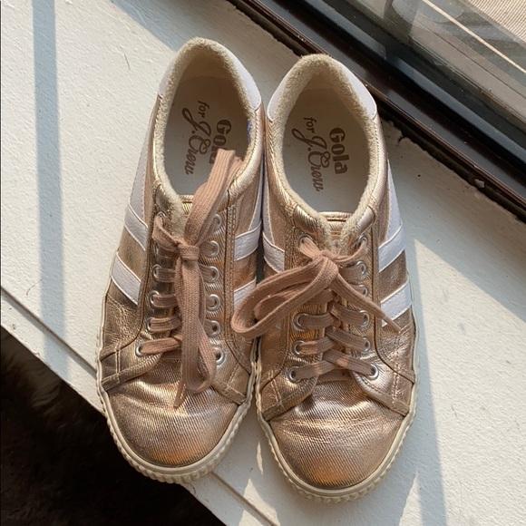 Jcrew Rose Gold Sneakers   Poshmark